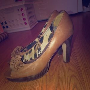 Tan, genuine leather Madden Girl heels